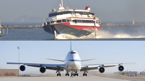 Commercial aircraft and passenger ships