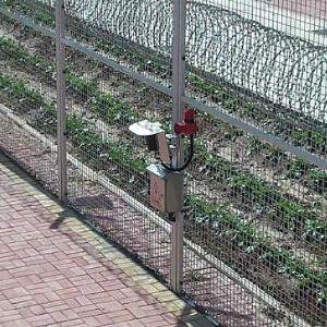 フェンス侵入者警戒監視例