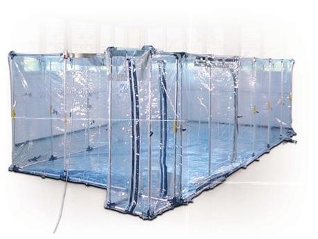 NBC防護 陰圧屋内用テント1C-3670-1D (クリアライナー)